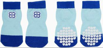 Pet Ego Comfort Traction Control Dog Socks - Blue