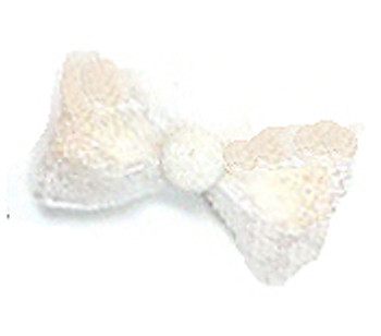 All That Glitters Dog Hair Bow Barrette - White