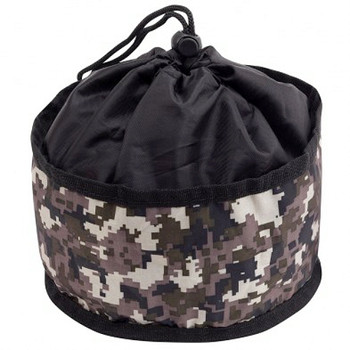 Digital Camo Print Foldable Travel Pet Dog Bowl