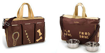 Jet Setter Doggie Diaper Bag - Brown