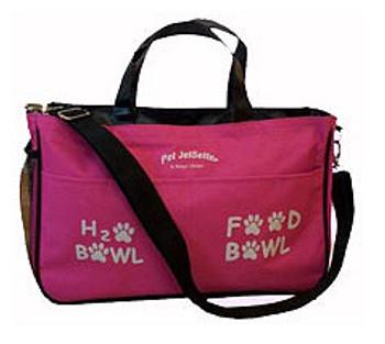 Jet Setter Doggie Diaper Bag - Pink