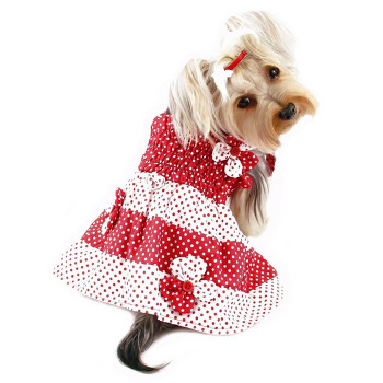 Red & White Polka Dots Dog Sundress