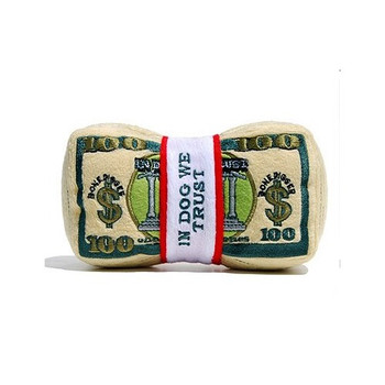 Stack of Money Plush Dog Toy