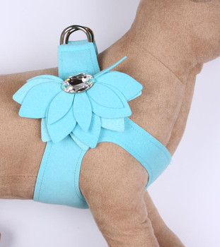 Tiffi Blue Water Lily Step in Dog Harness