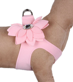 Puppy Pink Water Lily Step in Dog Harness