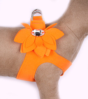 Electric Orange Water Lily Step in Dog Harness