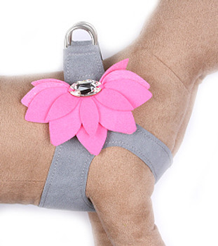 Platinum / Perfect Pink Water Lily Step in Dog Harness