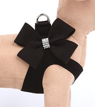 Black Nouveau Bow Step InHarness
