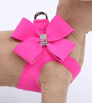 Pink Sapphire Nouveau Bow Step in Dog Harness