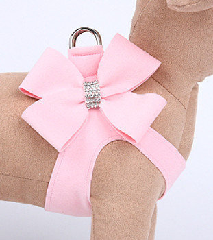Puppy Pink Nouveau Bow Step in Dog Harness