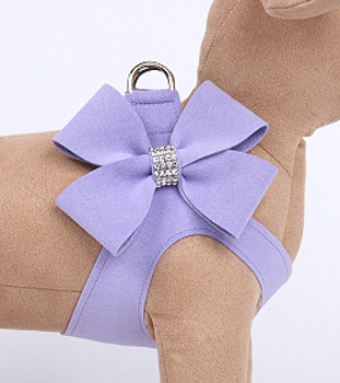 French Lavender Nouveau Bow Step in Dog Harness