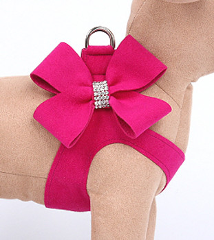 Wine N Roses Nouveau Bow Step In Dog Harness
