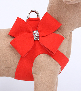 Red Pepper Nouveau Bow Step In Dog Harness