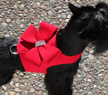 Red Nouveau Bow Bailey II Dog Harnesses - Choose Colors