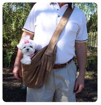 Fawn Luxe Suede Cuddle Dog Carrier by Susan Lanci Designs
