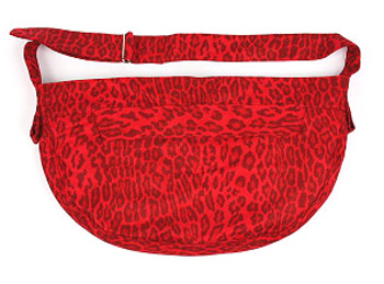 Savannah Red Luxe Suede Cuddle Dog Carrier by Susan Lanci Designs