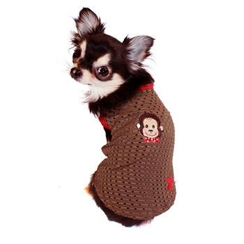 Curious Doggie Monkey Mesh Dog Tank Top - Size XS