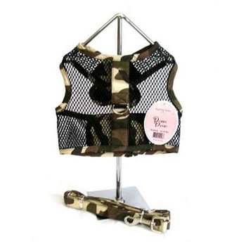 Camo Netted Harness with Leash by Doggie Design