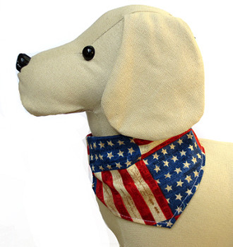 Dog Bandana - Vintage Stars & Stripes