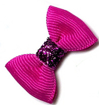 Dog Hair Bow Barrette - Precious Berry Juice