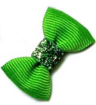 Dog Hair Bow Barrette - Precious Apple Green