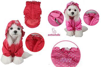 Hooded Pinka Ruffled Jumper Raincoat