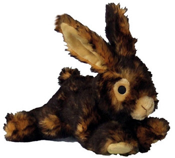 "Rabbit 8"" Squeaky Furry Dog Toys"