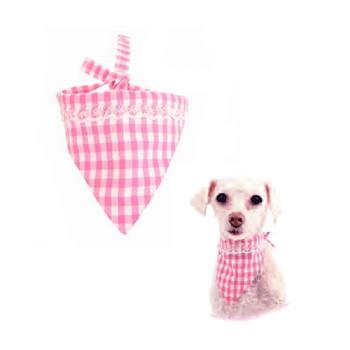 Keira Gingham Dog Bandana - Pink