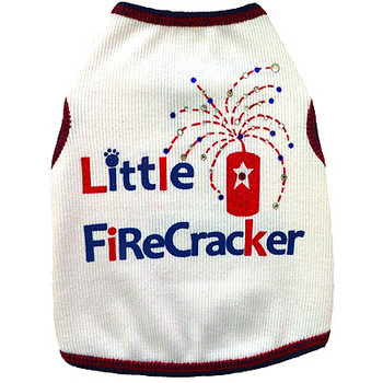 Little Firecracker Dog Tank Top by I See Spot