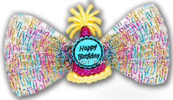 Dog Bow Barrette - Birthday Wishes for Larger Dogs