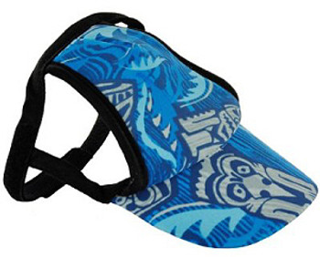 Tiki Colbalt Sun Protective Dog Visor Hats for Dogs