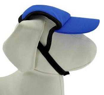Royal Blue Sun Protective Dog Visor Hats for Dogs