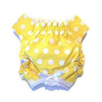Dog Panty - Yellow & White Polka Dot
