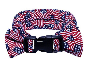 Too Cool Cooling Dog Collars - American Flag