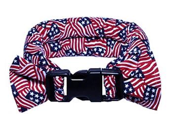Too Cool Cooling Dog Collars - American Flag