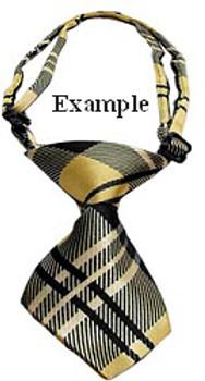 Black & Orange Stripe Dog Neck Tie