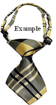 Stripe Classic Dog Neck Tie