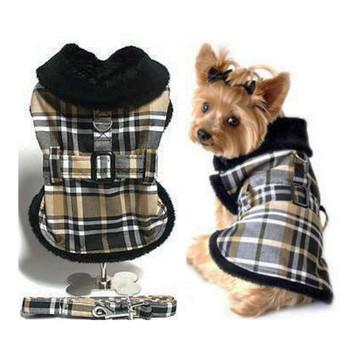 Black & Brown Plaid Dog Coat by Doggie Design