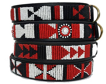 Massai Shield African Beaded Collar & Leash Collection