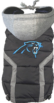 NFL Carolina Panthers Licensed Dog Puffer Vest Coat - S - 3X