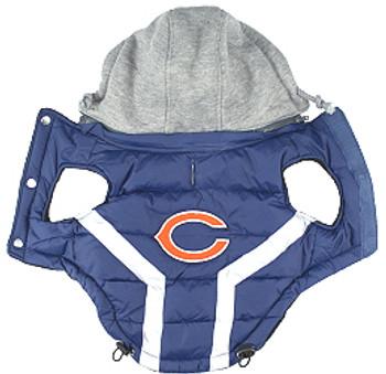 NFL Chicago Bears Licensed Dog Puffer Vest Coat - S - 3X