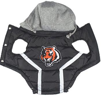 NFL Cincinnati Bengals Licensed Dog Puffer Vest Coat - S - 3X