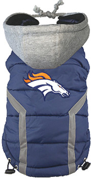 NFL Denver Broncos Licensed Dog Puffer Vest Coat - S - 3X