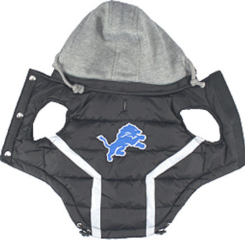 NFL Detroit Lions Licensed Dog Puffer Vest Coat - S - 3X