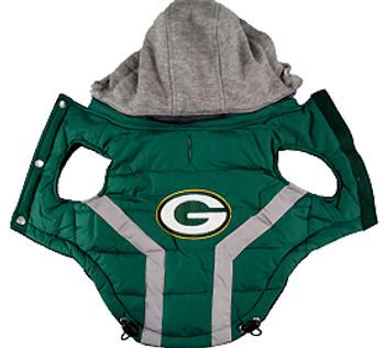 NFL Green Bay Packers Licensed Dog Puffer Vest Coat - S - 3X