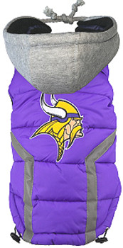 NFL Minnesota Vikings Licensed Dog Puffer Vest Coat - S - 3X