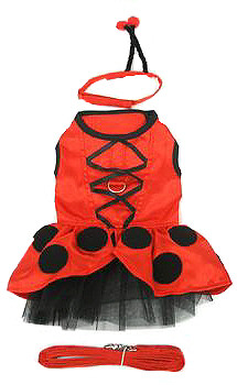Lady Bug Fairy Dog Costume Dress -Small & Large Dogs