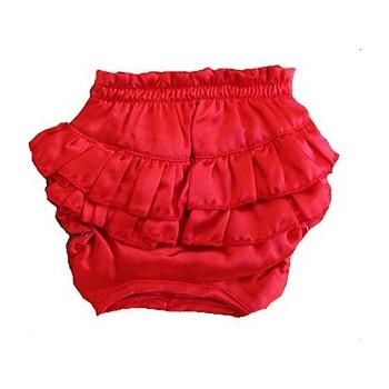 Red Satin Ruffle Dog Panties (Large)