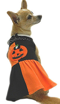 Halloween Patchwork Dog Dress by Ruff Ruff Couture