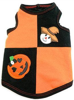 Halloween Patchwork Dog Tank by Ruff Ruff Couture